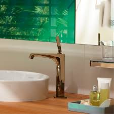 axor citterio e single hole faucet in red gold