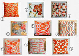 orange decorative pillows  decorating ideas