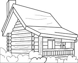 logging coloring pages free printable log cabin coloring page for kids log cabins cabin