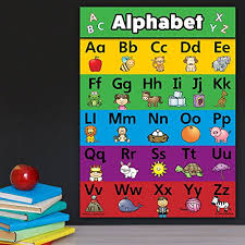 Abc Alphabet Poster Chart Laminated Double Sided 18 X 24