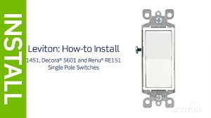 leviton presents how to install a light switch youtube tearing double pole single throw light switch wiring diagram single pole light switch wiring diagram autoctono me best of roc fine