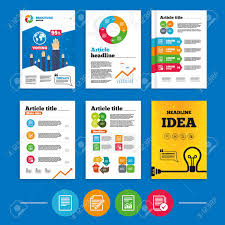 Brochure Or Flyers Design File Document Icons Document With