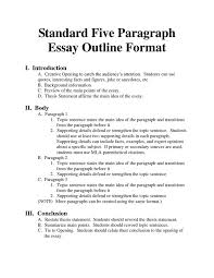 outline of essay format madrat co outline of essay format