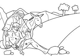 Small Picture Story of Good Samaritan Coloring Page NetArt