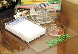 personalized desk accessories acrylic