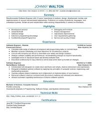 Resume For Software Engineer Software Engineer Resume Example Sample  Unforgettable Remote Software Engineer Resume Examples To