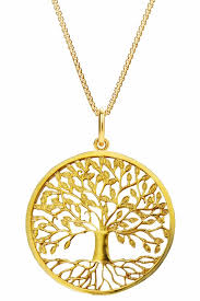 tree of life pendant silver 925 gold plated loading zoom