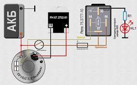 Генератор вольт ампера от инжекторной семерки  Схема подключения светодиода для контроля заряда АКБ