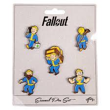Eb World Level Chart Fallout Enamel Pins 5 Pack Set 2