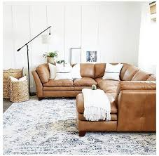 tan leather couch living room