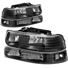 Amazon.com: Chevy Silverado/Tahoe Replacement Headlight/Bumper 4 ...