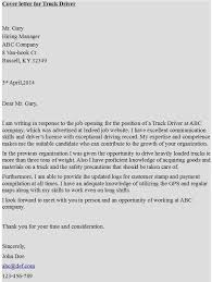 Gallery Of Cover Letter For Truck Driver Truck Driver Cover Letter