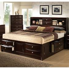 Lifestyle C0172 King California King Storage Bed w Bookcase