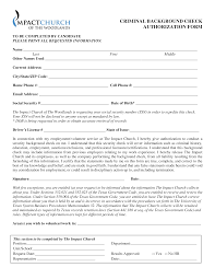 Criminal Record Template Free Criminal Background Check Authorization Form Templates At