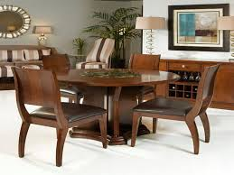 simple yet classy round dining table design wooden round dining table design with mirror and