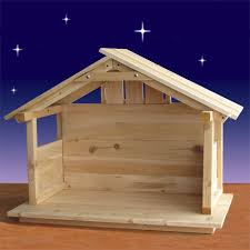 cedar nativity le 30in h