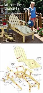 outdoor furniture plans sun lounger