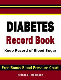 Diabetic Recording Chart Free Diabetes Record Book Keep Record Of Blood Sugar In This