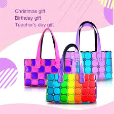 Fashion Design Toys Make Your Own Diy Handmade Handbag Purse Girl Puzzle Stitching Fashion Design Kit Crafts Toys Christmas Gifts