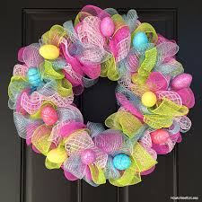 images of easter mesh wreaths