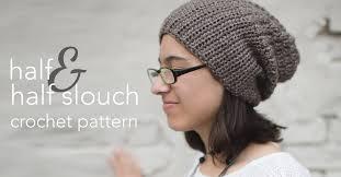 Slouch Hat Crochet Pattern Adorable HalfnHalf Slouch Crochet Pattern Little Monkeys Crochet