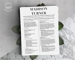 Madison Turner Resume Template Stand Out Shop