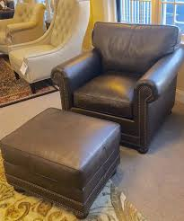 fancy classic leather chair and ottoman classic leather ln chair ottoman set curriers leather