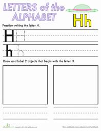 alphabet practice letters letter h