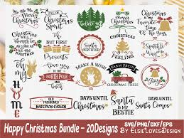 All of our downloads include an image, silhouette file, and.svg file. Holiday Christmas Bundle Graphic By Elsielovesdesign Pola