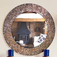 Decorative Embossed Glass Mosaic Tile Wall Mirror