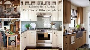 44 Incredible Rustic Farmhouse Kitchen Cabinet Ideas Decoraisocom