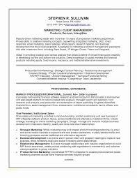 Management Resume Samples New Executive Resume Samples Inspirational Example A Good Resume Unique