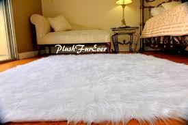 3x5 true snow white faux fur rugs sheepskin rectangle flokati gy area rug