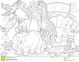 Small Picture Coloring Pages Animals Zoo Coloring Pages