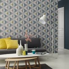 a wallpaper design that could easily be used as a feature wall in a living room or bedroom or throughout a bathroom or toilet room with matching blue