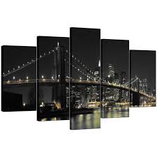 Living Room Sets Nyc New York Canvas Wall Art For Your Living Room Set Of Five