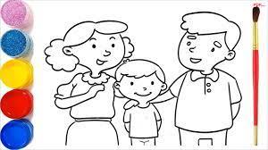 31+ Tranh tô màu gia đình hạnh phúc cho bé tập tô