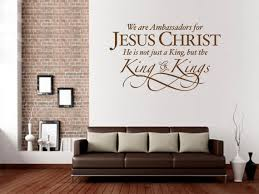 christian wall decal ambassadors for jesus scripture on christian vinyl wall art quotes with christian wall decal ambassadors for jesus scripture decoration
