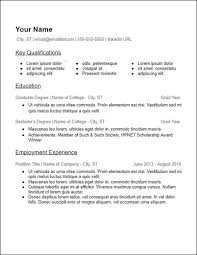 Resume Templates For Educators Impressive No Work Experience Resume Templates Free To Download HirePowersnet