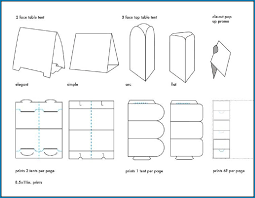 Microsoft Office Table Tent Template Table Tent Template 4 Per Page 497