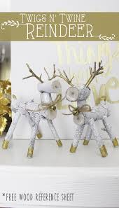 these festive little wooden reindeer are a mix of modern and rustic style and only require