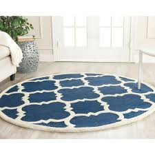 safavieh cambridge navy ivory 4 ft x 4 ft round area rug