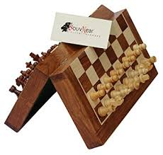 105 Magnetic Wooden Travel Chess Game Amazon SouvNear 100100 Wood Chess Set Handmade Premium 14