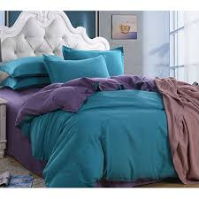 whole double solid color plain pure purple and teal patchwork cotton bedding set quilt duvet cover queen king full twin size