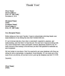 sample thank you letter to boss when leaving thank you letter  thank