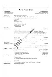 Cover Letter Simple Resume Sample Format How To Write Basic Computer