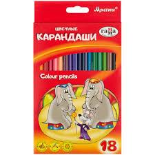 """<b>Набор цветных карандашей</b> """"Мультики"""", трёхгранные, 18 шт."""