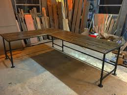 Industrial Pipe Coffee Table Industrial Pipe L Shaped Desk