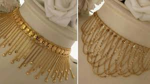 Gold Cheek Necklace Design Simple Gold Necklace Designs In 10 Grams Light Weight