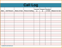 Sales Calls Tracking Template Sales Call Report Template Free Also Daily Excel Unique